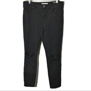 Bullhead Mid Rise Skinnies Distressed Jeans 29